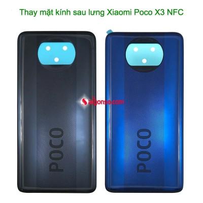Thay mặt kính sau lưng Xiaomi Poco X3 NFC