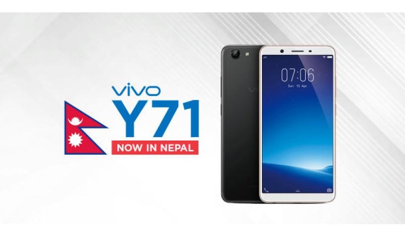 Vivo Y71 mang màn hình 18:9 lên smartphone giá rẻ