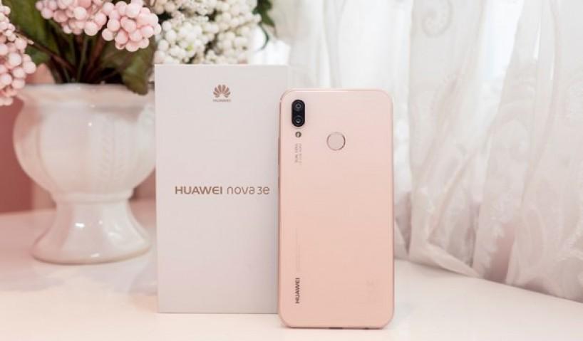 Nữ tính, dịu dàng với Huawei Nova 3e màu hồng Sakura Pink