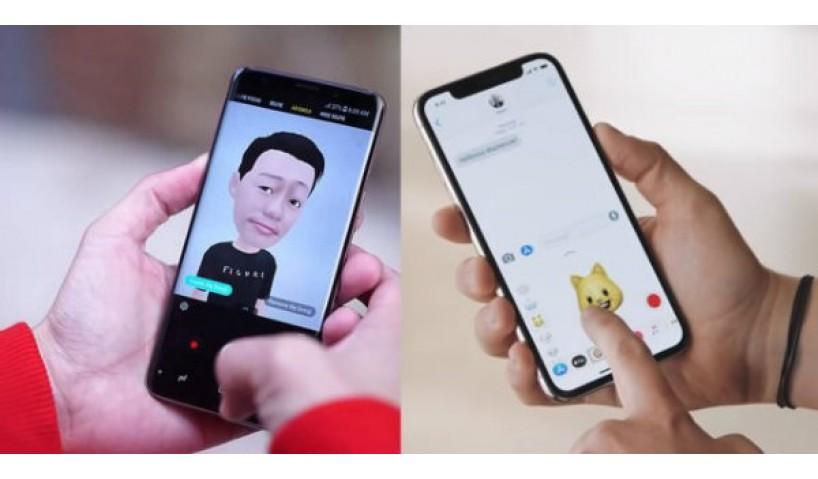 So sánh tính năng chụp ảnh AR Emoji của Samsung và Animoji của Apple