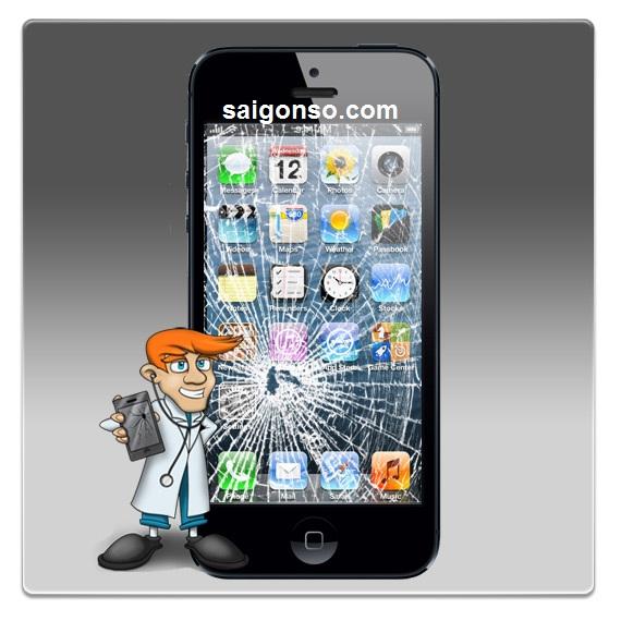 thay mặt kính iphone 5/5s uy tín tại Sài Gòn Số