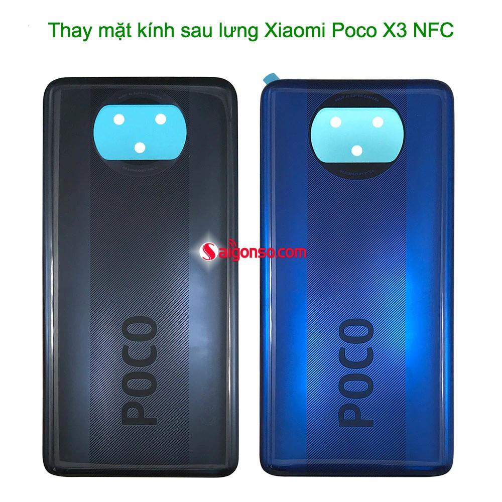 Thay mặt kính sau Xiaomi Poco X3 NFC